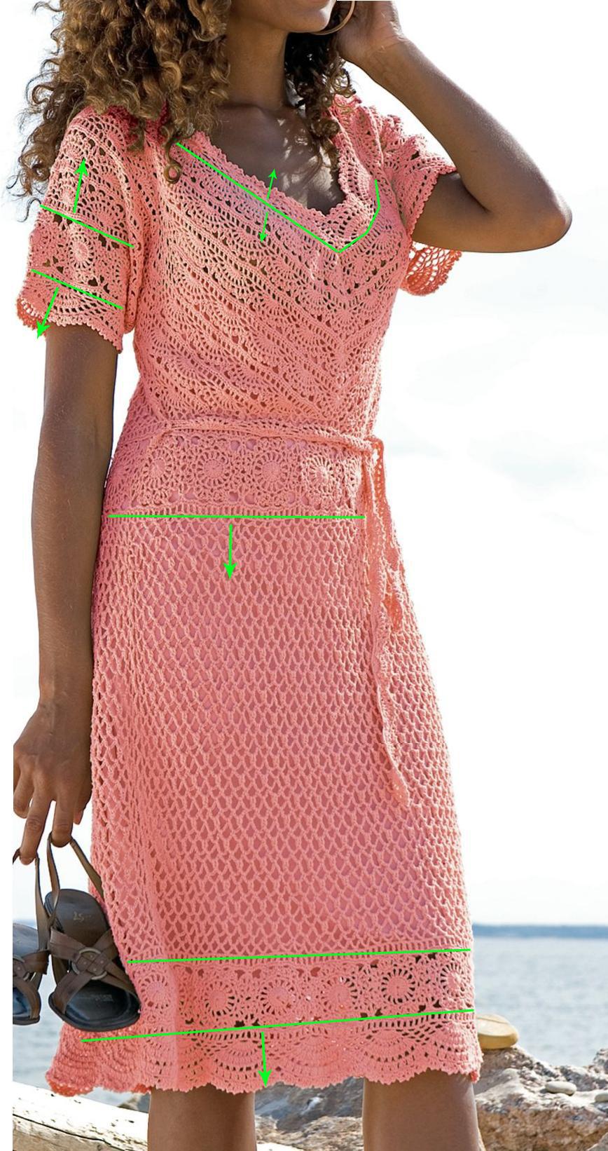 Клубок дел вязание крючком фиолетовое платье