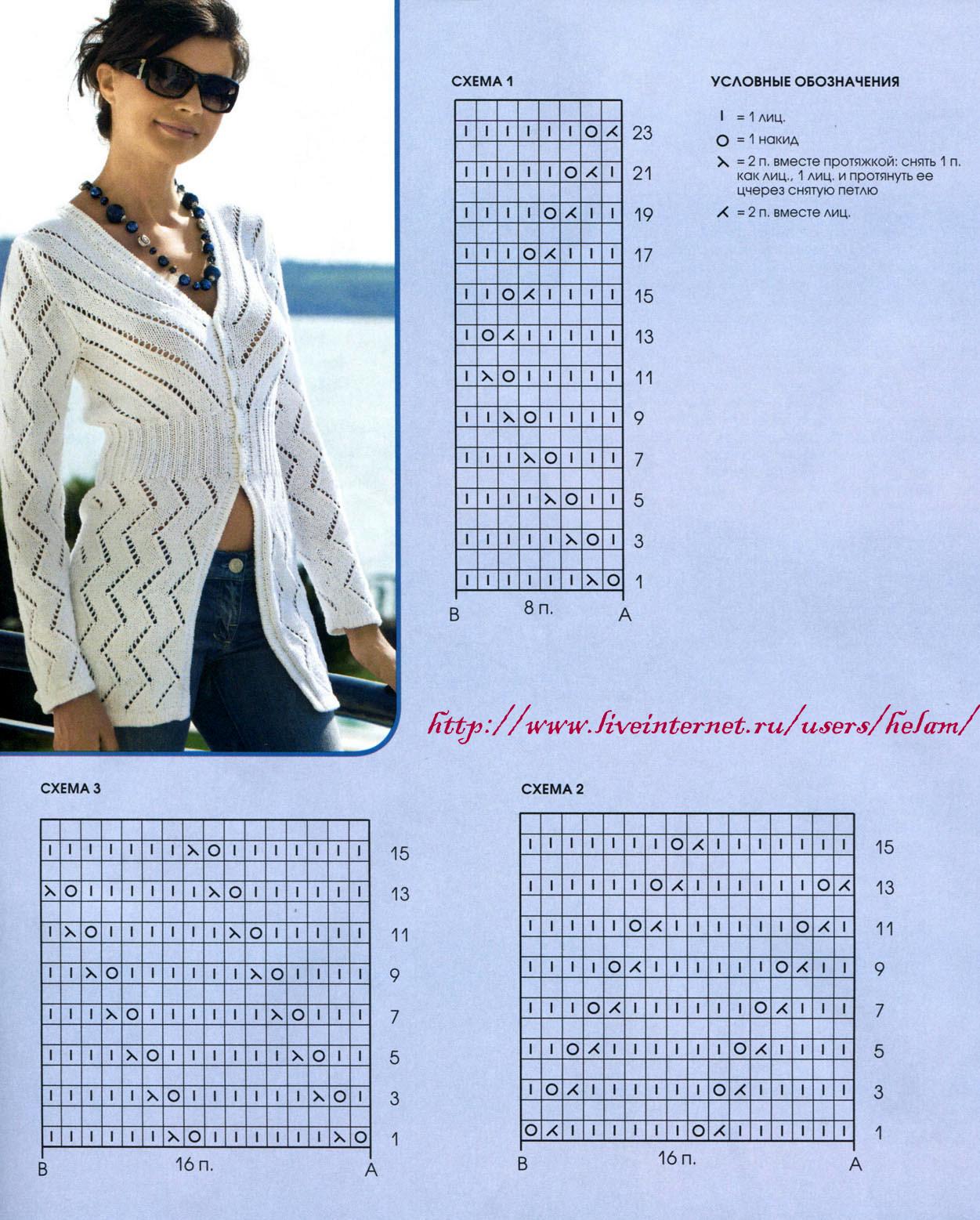 Вязание на спицах ажурные жакеты схемы Вязание спицами для мужчин схемы и модели 2014