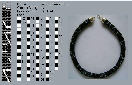 """ANIN77, Вот схема этого жгута.  Бисер 11 ТОНО металлизированный  """"аметистовый серый """" (TR-11-90) и  """"розалин """" внутреннее..."""