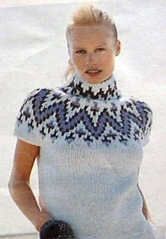 Норвежский свитер с коротким