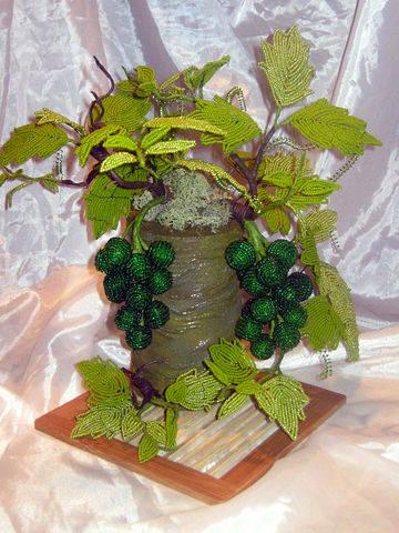 бисероплетение схемы виноград - О том, как плести бисером.
