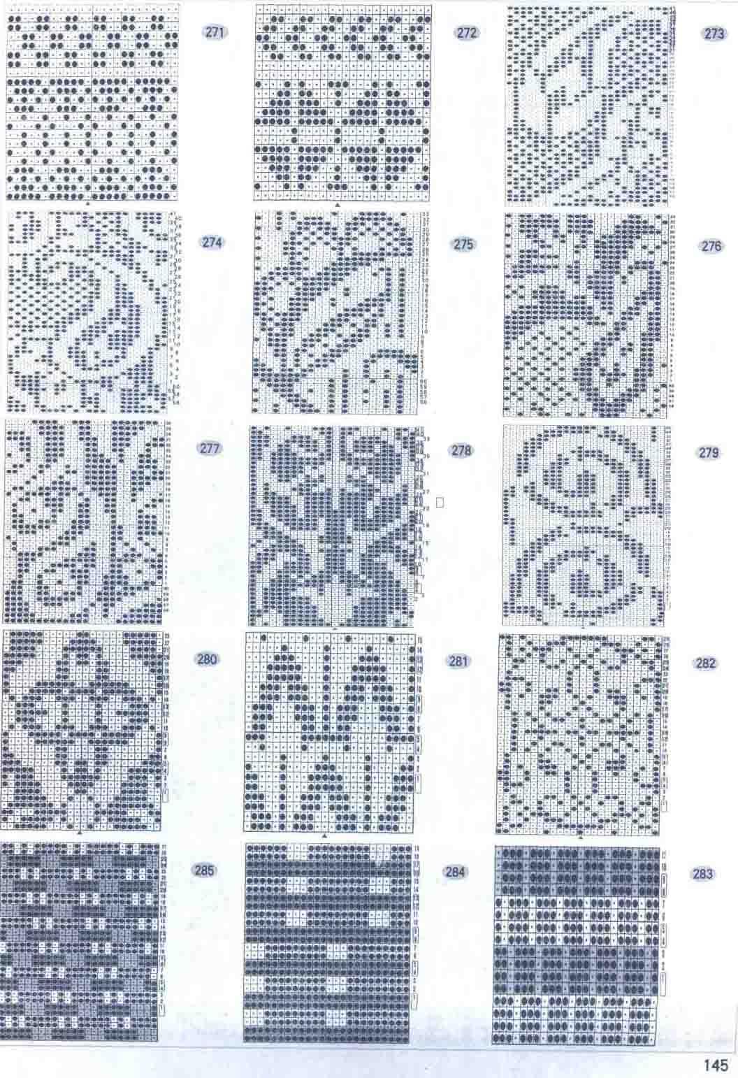 схемы орнаментов для детского вязание на однофантурных вязальных машин 5 класса