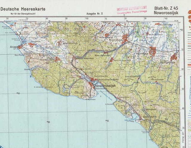 Топографическую Карту Краснодарского Края