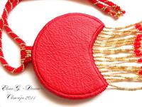 Красная лунница изнанка