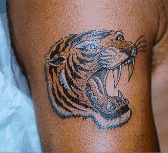 Тату оберег татуировки тигра на