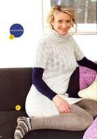 туники вязаные спицами фото. пуловеры женские спицами, кофточки спицами