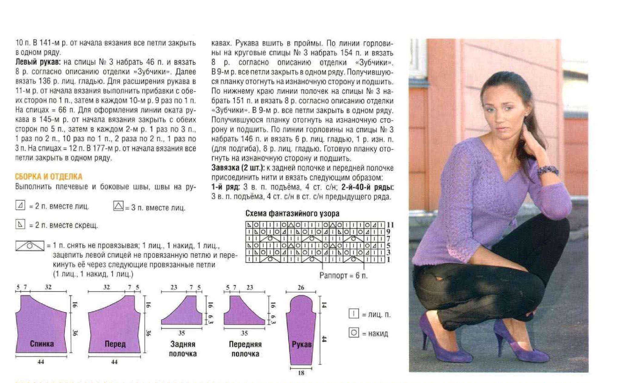 Как вязать рукав спицами без выкройки, вязание кофты начиная 93
