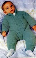 Вязаный детский комбинезон Вязаный детский комбинезон для малыша схема.