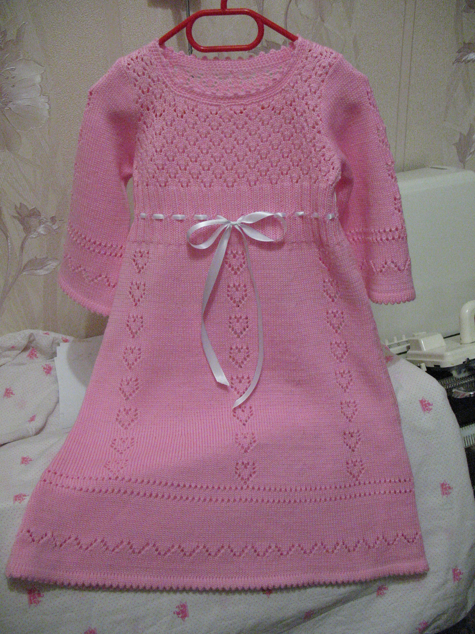 Pembe �irin elbise modeli