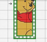 Две схемы вышивки закладок на тему популярного диснеевского мультика. и пятачок.