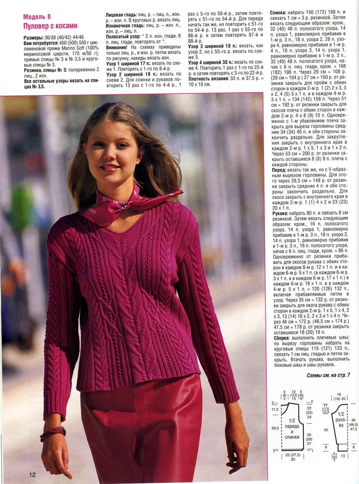 Пуловер С Косами Женский Доставка