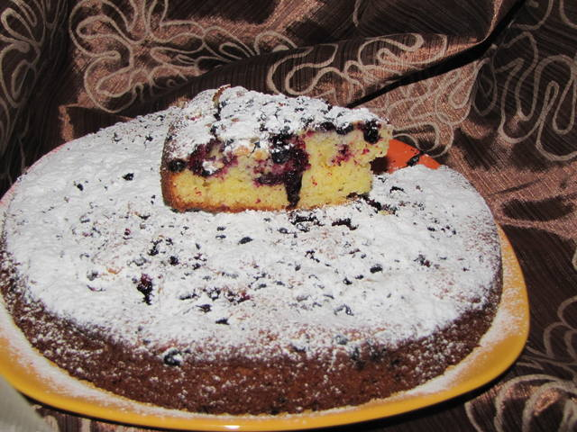 Пирог с смородиной и вишней рецепт с