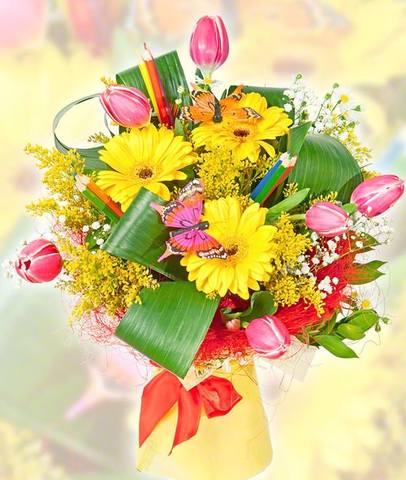 Фото букет цветов к 1 сентября