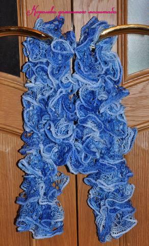 шарфик голубой