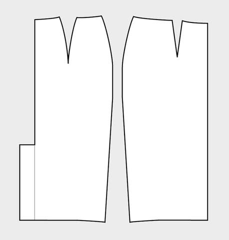 Выкройка юбки-карандаш Пошаговое построение выкройки.  Статус. не на сайте.  Группа: Администраторы.