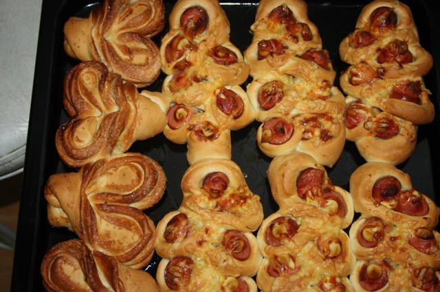 Как сделать красивый булочки с повидлом