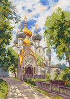 Новодевичий монастырь.  Вышивка крестом, схемы.