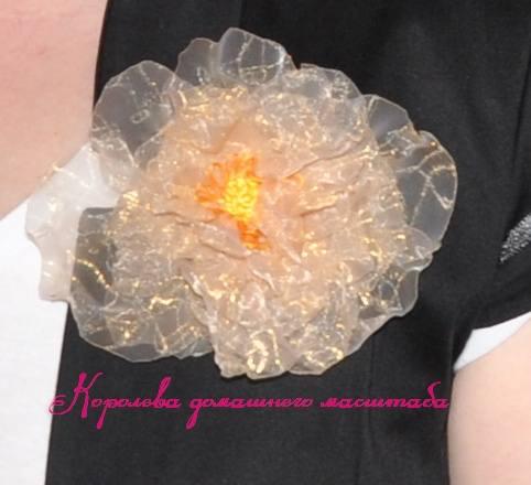 цветок из органзы2