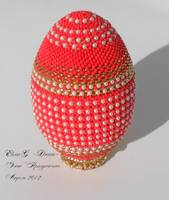 Яйцо Красное с жемчугом