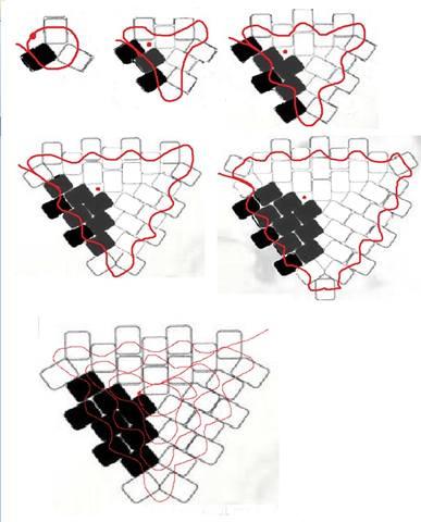 Еще вариант футбольного мяча из бисера для плетения. вот такая вот схема плетения сечика из бисера.
