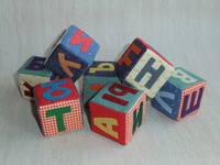Мягкие кубики с буквами своими руками 66