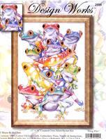 В состав набора входит: Аида 14 белого цвета, мулине на бумажном органайзере, игла, схема для вышивания, инструкция.
