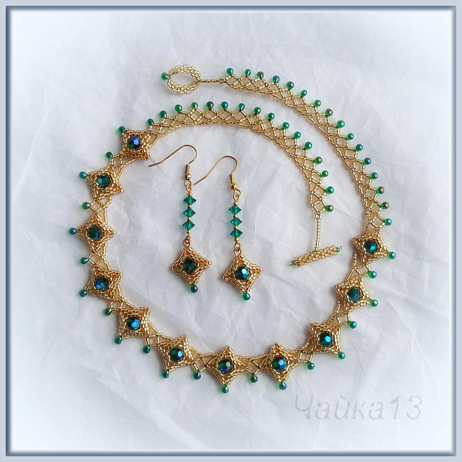 Мастер-класс плетение ожерелья из бисера своими руками P i r a k u.