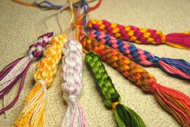 Своими руками плетения нитки