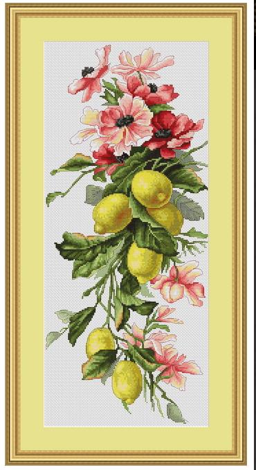 лимоны лука-с вышивка схема