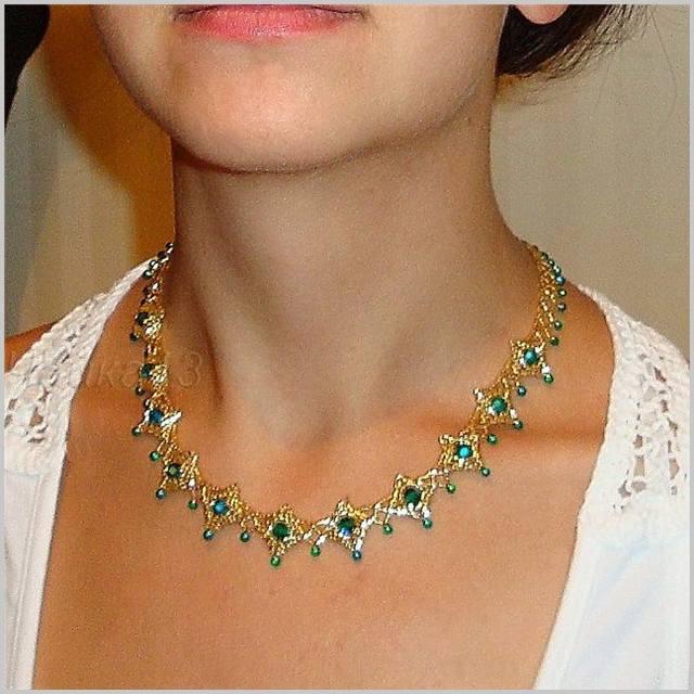 Мастер-класс по бисероплетению: Ожерелье.