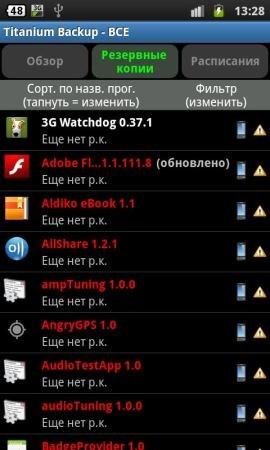 Titanium Backup v.5.4.0.2 (Android OS)
