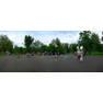 Панорама праздника рисования песком в парке Перовского города Оренбурга 8 июля 2012 года