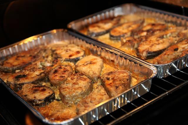 Рецепты стейка горбуши в духовке