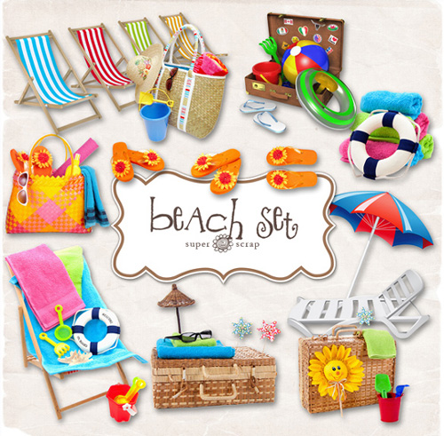 Scrap kit - Beach Objects