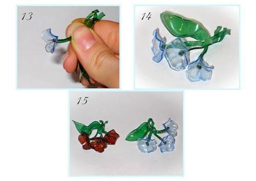 Как сделать украшения из пластиковых бутылок своими руками