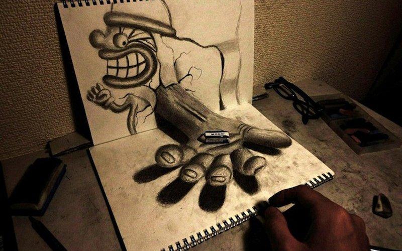 3d нарисованные картинки