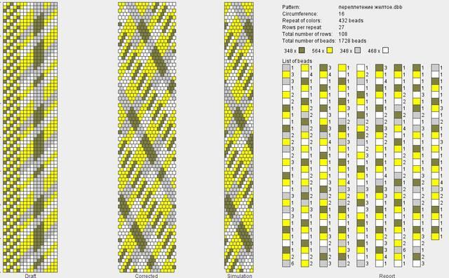 переплетение желто-серое