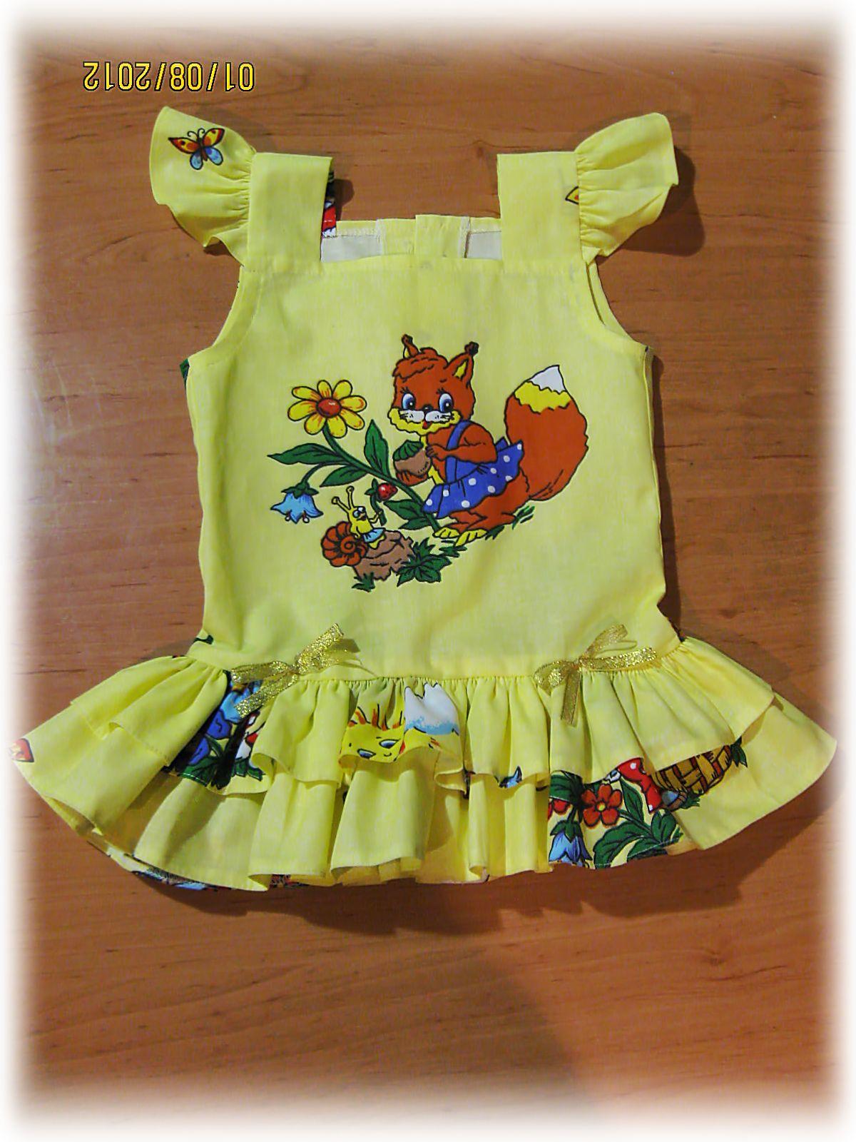 Как строится выкройка: платье для девочки 1 год 12