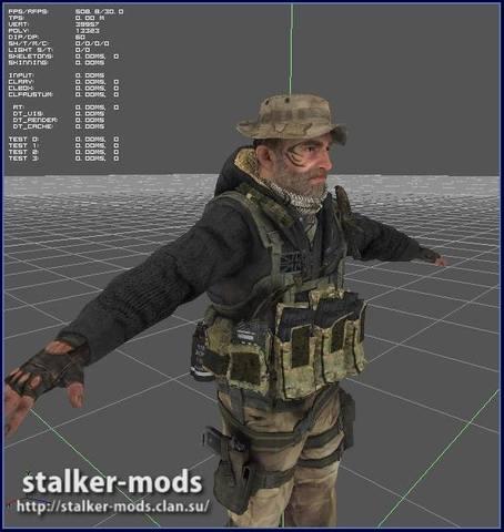 модель нпс для игры сталкер рипнутая из mw3