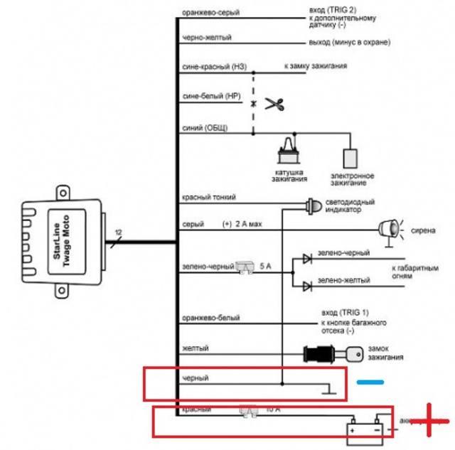 Starline moto v7 схема