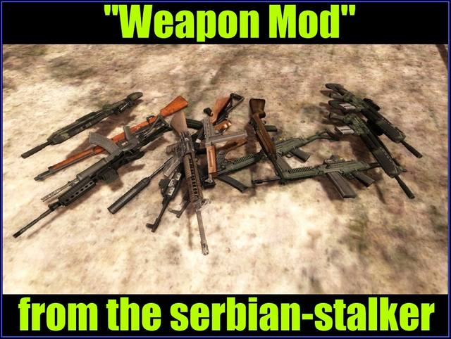 Weapon Mod from the serbian-stalker
