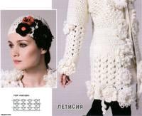 Схема вязания крючком жакета с розами. http://hobby-rukodelie.ru/sxema-vyazaniya-kryuchkom-zhaketa-s-rozami.