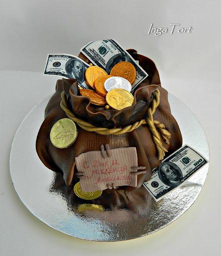 Торт мешок счастья фото