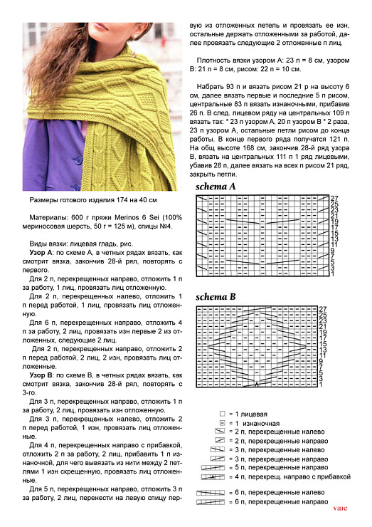 Схемы вязания шапок и шарфов, помогут легко связать модель, которая вам понравилась. . Все это вы Схема вязания