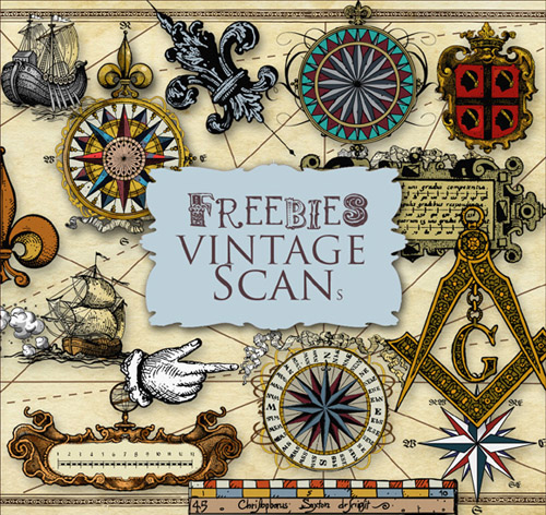 Scrap kit - Elements for Vintage Map