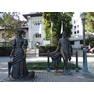 Памятник Даме с собачкой и Чехову. Ялта