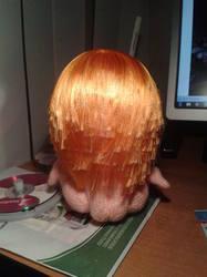 Как из атласных лент сделать волосы кукле из 36