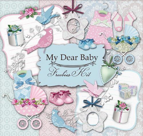 Scrap Set - My Dear Baby