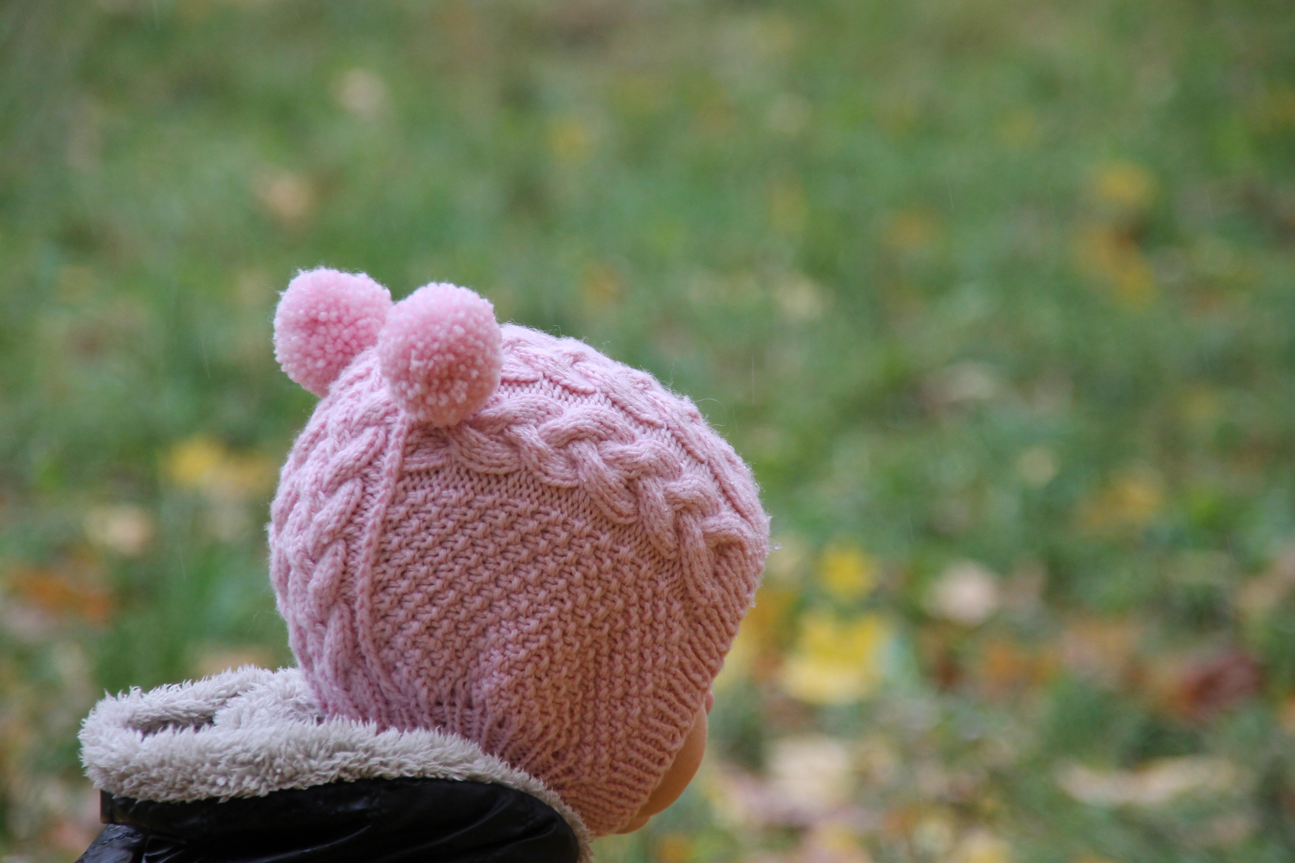 Мастер класс вязание спицами шапочки для девочки один год