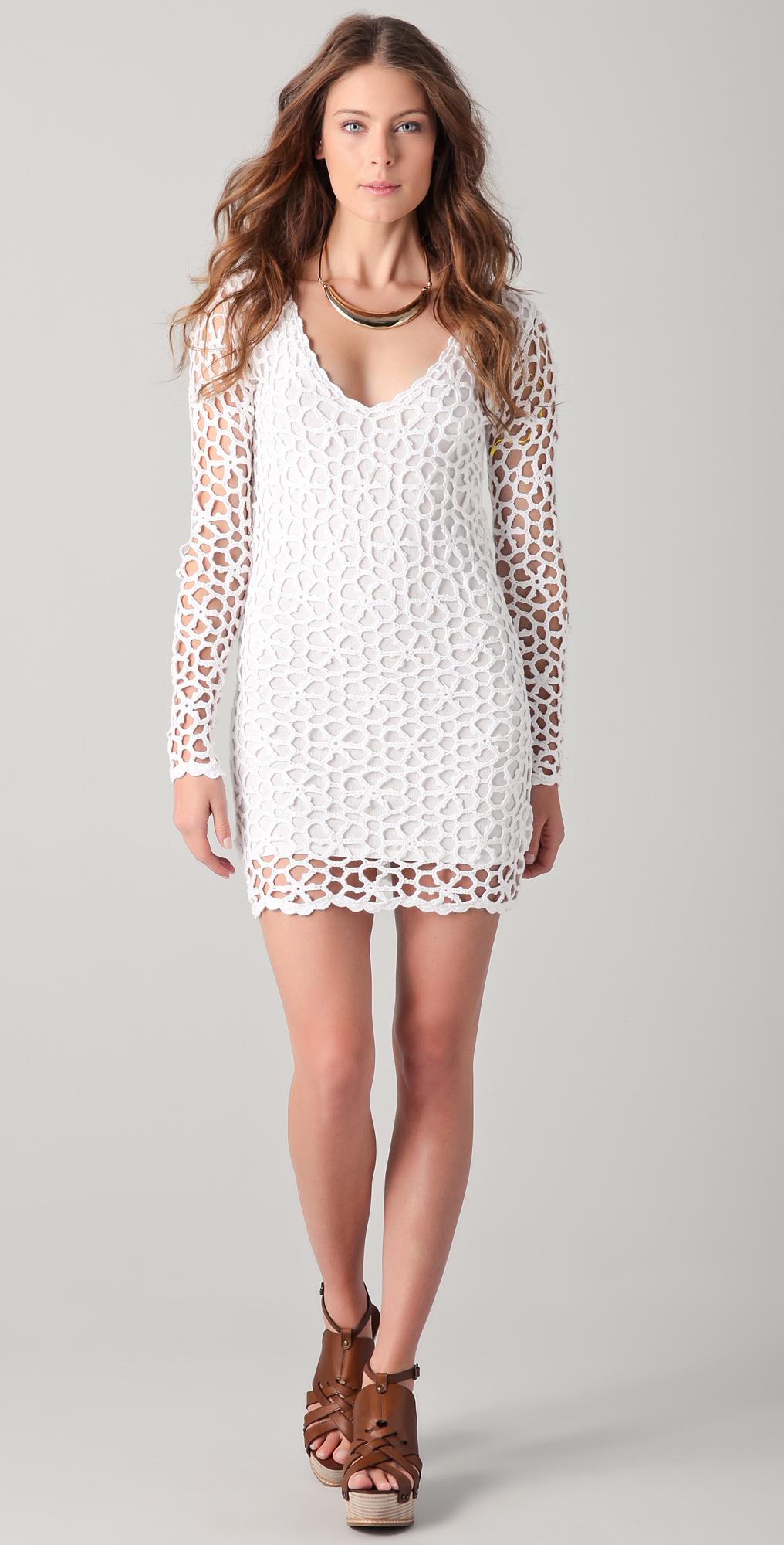 Короткое летнее платье крючком 9